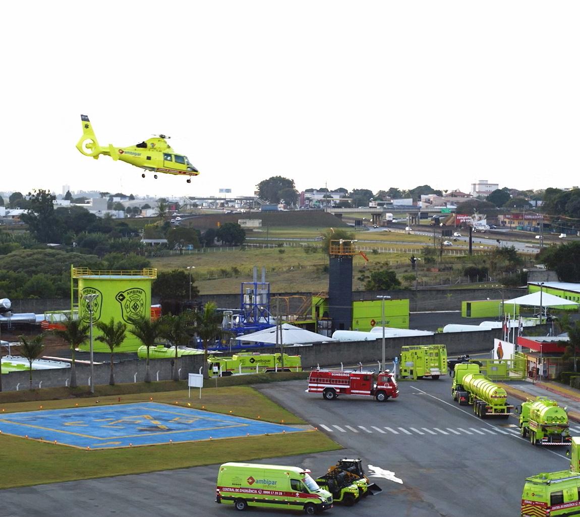 Imagem da frota de resposta a emergência